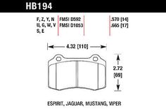 Hawk HP Plus Brake Pads - HB194N.570
