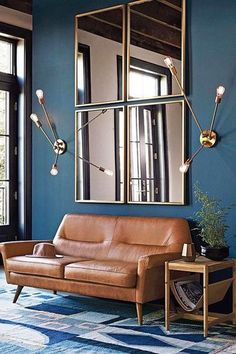 49 Top Design Ideas For A Small Living Room. Are you looking for interior decorating ideas to use in a small living room? Small living rooms can look just as attractive . Living Room Mirrors, Small Living Rooms, Living Room Modern, Home And Living, Living Spaces, Wall Mirrors, Simple Living, Round Mirrors, Mirror On The Wall