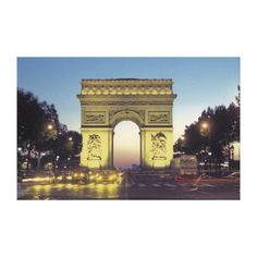 Arc de Triomphe and the Champs-Elysees Stretched Canvas Prints by National Geographic