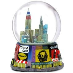 Musical Broadway Snow Globe, 125mm New York City Souvenir *** Click on the image for additional details.