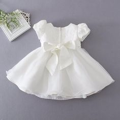 - Baby 3pcs Christening Gown - Dresses Length: Knee-Length - Collar: o-Neck - Dress Style: Princess Dress - Sleeve Length(cm): Short - Sleeve Style: Puff Sleeve - Model Number: baptism dress - Fit: Fits true to size, take your normal size - Actual Images: Yes - Decoration: Beading - Silhouette: Ball Gown - Pattern Type: Solid - Style: Formal - Material: Cotton,Microfiber - Gender: Newborn,baby girl - sutible for place: Special Occasion ,wedding,baptism, - Item: baby girl dresses - Baby…