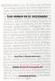 Los verbos en el diccionario / Sergi Torner y Elisenda Bernal (ed.) - A Coruña : Universidade da Coruña, Servizo de Publicacións, 2013