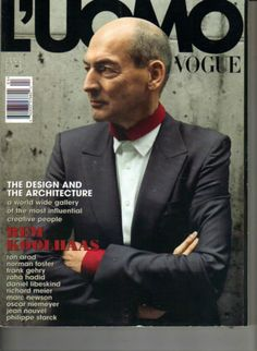 REM Koolhaas L'Uomo Vogue Magazine 4 08 Ron Arad Norman Foster Frank Gehry   eBay