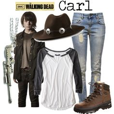 """""""Carl - The Walking Dead"""" by marybethschultz on Polyvore"""