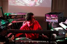 Alba Ecstasy & Nord: The Electronic Museum Concert April 2012 Nord playing the keyboards