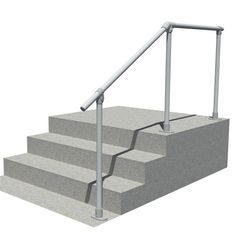 Best Wall 70A Aluminum Wall Mounted Stair Railing Easy 400 x 300