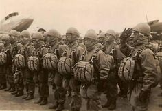 Japanese Army Paratroopers Readying for Action