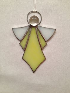 Stained Glass Ornament - Yellow Angel