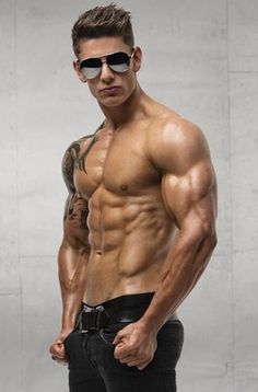 Sexy body builder seduces you