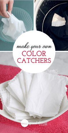 """Learn how to make your own """"color catcher"""" laundry sheets. They prevent color transfer in the wash, so you can finally wash darks and lights together!"""