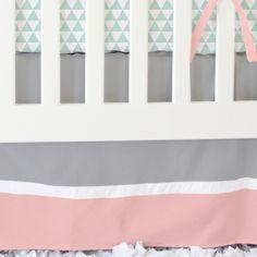 Caden Lane Baby Bedding - Coral and Mint Arrow Bumperless Crib Bedding, $172.00 (http://cadenlane.com/coral-and-mint-arrow-bumperless-crib-bedding/)