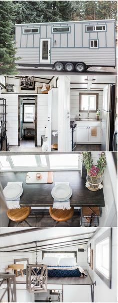 Tiny House Made with SIPs Available for Sale in Spokane, Washington - A bright and modern tiny house is currently for sale in Spokane, Washington and if you're wanting a home that's energy-efficient, this is the one for you. This 339-square foot home is built using SIPs for superior climate control in all seasons. The house is ready to go and can be yours for $65,000.