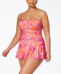 Lauren Ralph Lauren Plus Size Oceania Printed Swimdress