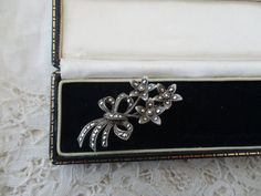 Silver marcasite brooch 1930's by Nkempantiques on Etsy