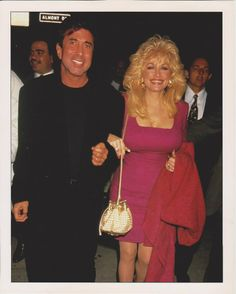 Dolly Parton with manager Sandy Gallin