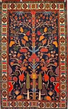 Persian Bakhtiari. An amazing combination of colors and a wonderful selection of Persian pattern.