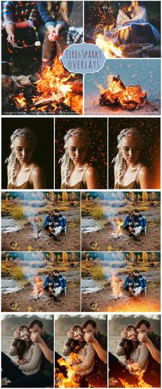 Fire and Sparks Photoshop Overlays. Photoshop Plugins. $9.00