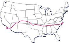 North Carolina to San Diego