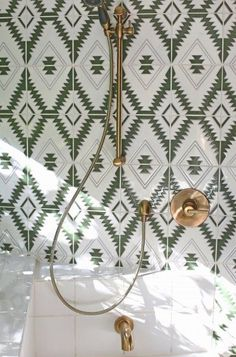 <p>Designer Debra Szidon went custom Old Cairo for her double bathroom remodel.</p>