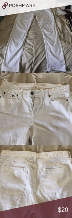 JCrew White Straight Leg Jeans Straight leg. Size 29S. White denim. Good condition J. Crew Jeans Straight Leg