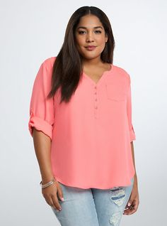 I own this one too. Georgette Pullover Blouse, SUNKIST CORAL