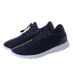 d100842e20b Men s Running Shoes Fashion Breathable Sneakers Mesh Soft Sole Casual  Athletic Lightweight Blue 42 - Risetube