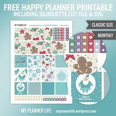 Free Printable Jolly Christmas Planner Stickers from My Planner Life