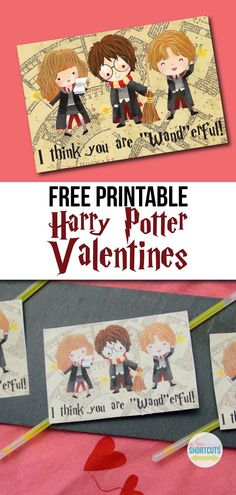 Do your kids love Harry Potter? Get these Free Printable Harry Potter Valentines cards. Great for classroom Valentine's day parties. Kinder Valentines, Valentine Box, Valentines Day Party, Valentine Day Crafts, Funny Valentine, Valentine Ideas, Free Printable Valentines, Homemade Valentines, Saint Valentine