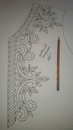 Border Embroidery Designs, Bead Embroidery Patterns, Hand Work Embroidery, Bead Embroidery Jewelry, Hand Embroidery Stitches, Beaded Embroidery, Machine Embroidery, Tambour Beading, Embroidery Fashion