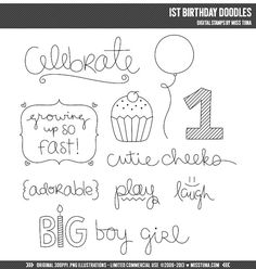 Hey, I found this really awesome Etsy listing at https://www.etsy.com/listing/160771126/1st-birthday-doodles-digital-stamps