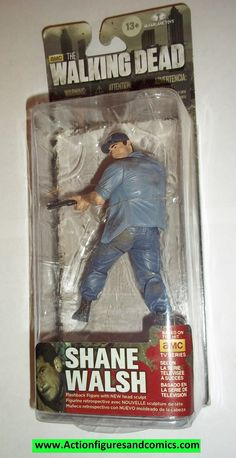Todd McFarlane toys AMC's THE WALKING DEAD 2014 series 5, SHANE WALSH NEW still factory sealed in the original package. figure size: approx. 5 inches tall condition: Package is in overall great condit
