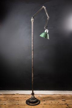 Vintage Machinist Floor Standing Lamp, Felix