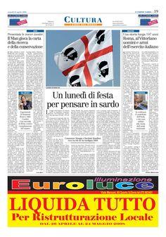 """L'Unione Sarda. 25 aprile 2008. Alberto Monteverde. """"Roma. Al Vittoriano Uomini e Armi dell'Esercito Italiano""""."""