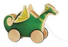 Puff, the Magic Dragon Goes Mod - Pull Toy
