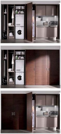 Custom Mini Kitchen. Nice Use Of Space