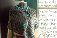 Sweater Crafts: Recycle Ideas for old sweaters. How to make crafts using old sweaters. Recycled sweater craft ideas for baby caps, slippers, pillows, toys, scarves. Make felted wool sweater crafts DIY