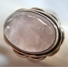 Rose Quartz Cabochon Ring in 925 Silver SZ . Starting at $1 on Tophatter.com!