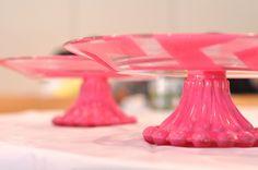 DIY cake stands by @Cassie G Munoz!