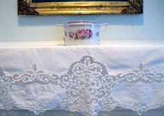 Runner Battenburg Lace Wedding Decor Buffet by mailordervintage
