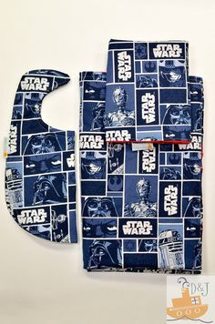 Limited Edition Star Wars BABY Shower Gift Set - Minky Backed Blanket, Bib and Security Blanket by DADDY And JACK