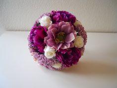 Purple, Sangria, Lavender, Pink and Ivory Bouquet via Etsy.