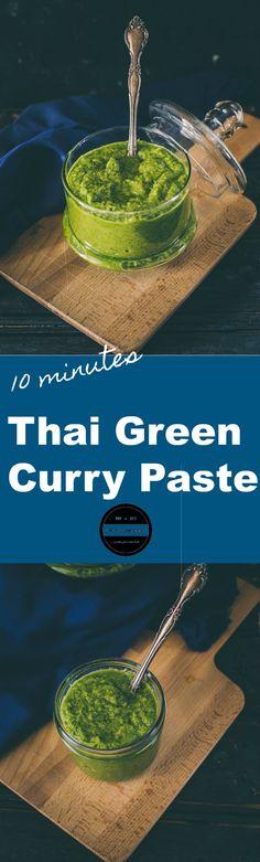 Vegan Thai Green Curry Paste under 10 minutes.