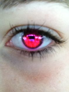 Bright pink contact lenses