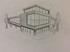 Perspectives # Architecture drawing # Perspectives 2019 home decor trends Perspective Architecture, Architecture Design, Architecture Drawing Sketchbooks, Architecture Concept Drawings, Architecture Portfolio, Perspective Drawing Lessons, Perspective Art, House Sketch, House Drawing