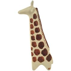 Mid-Century Modern Pottery Arabia Giraffe Sculpture, Finland, circa 1965 | From a unique collection of antique and modern animal sculptures at https://www.1stdibs.com/furniture/more-furniture-collectibles/animal-sculptures/