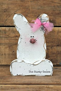 Easter Decor Spring Decor Easter Bunny by therustygoose on Etsy,