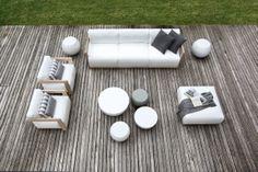 MERIDIANI I CLOUD sofa, armchairs and ottoman I BONGO low tables
