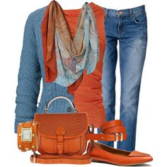 """""""River Island Orange"""" by cavell on Polyvore"""