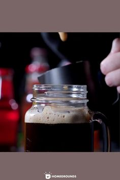 This easy cold brew coffee recipe makes the perfect glass of iced coffee! You can scale this recipe to make more or less cold brew coffee concentrate. The recipe as written will fit perfectly in a quart size mason jar. #cold #brew #coffee #mason #jar Cold Brew Coffee Concentrate, Cold Brew Coffee Recipe, Making Cold Brew Coffee, Coffee Type, Iced Coffee, Quart Size Mason Jars, Perfect Glass, Coffee Health Benefits, Bulletproof Coffee