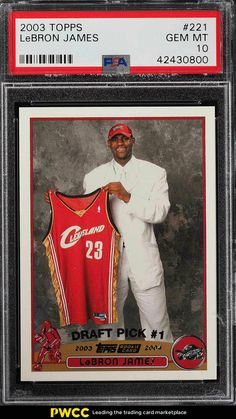 new products 5b73d c9aed 2003 Topps Basketball LeBron James ROOKIE RC  221 PSA 10 GEM MINT (PWCC)